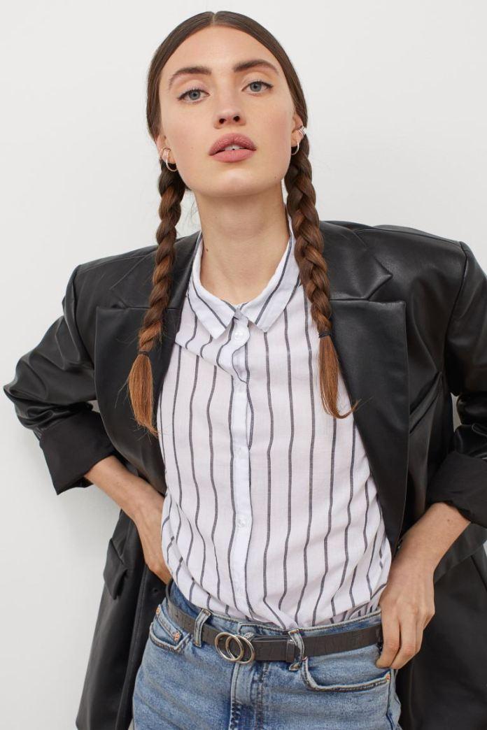 Cliomakeup-look-a-strisce-hm-Camicia-in-popeline-cotone