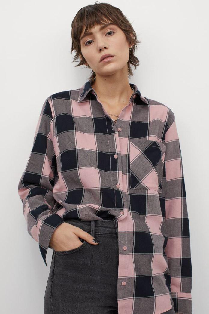 Cliomakeup-look-con-camicia-inverno-2021-10-hm-Camicia-cotone-rosa