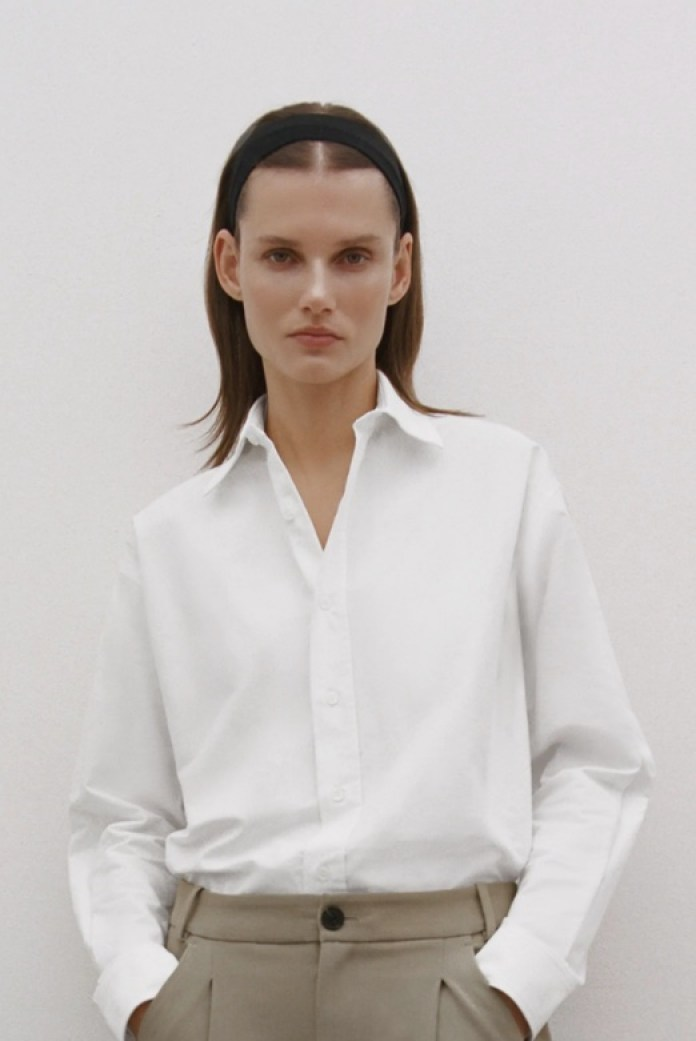 Cliomakeup-look-con-camicia-inverno-2021-4-zara-camicia-taglio-maschile-bianca