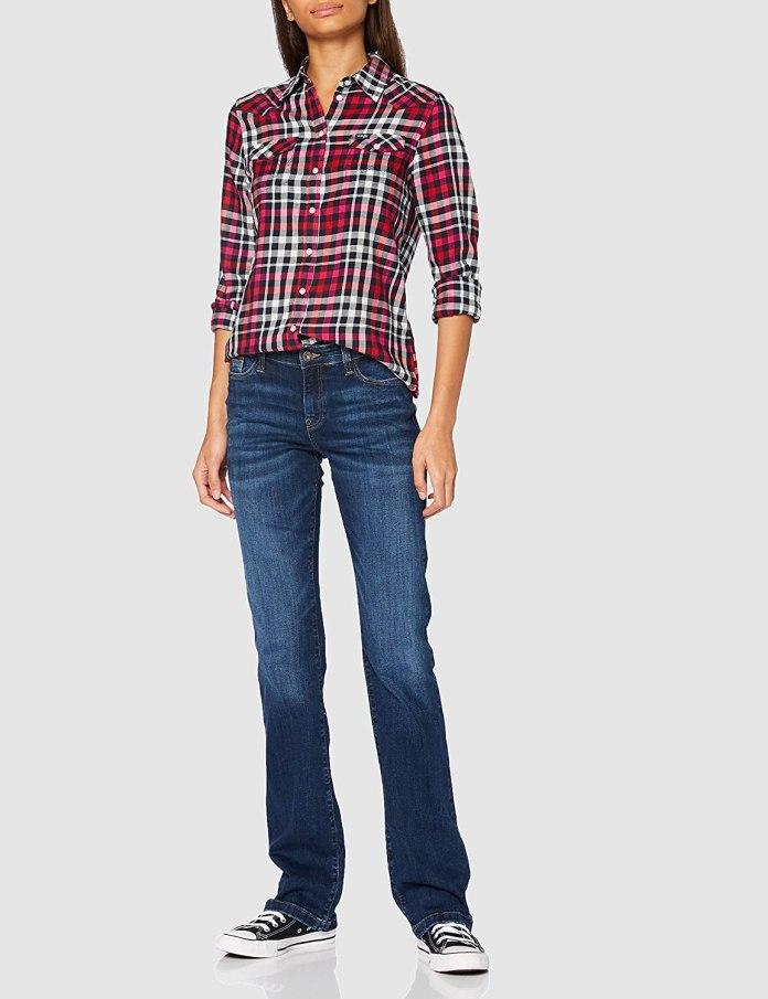 Cliomakeup-look-con-camicia-inverno-2021-8-Wrangler-Slim-Regular-Western-Camicia