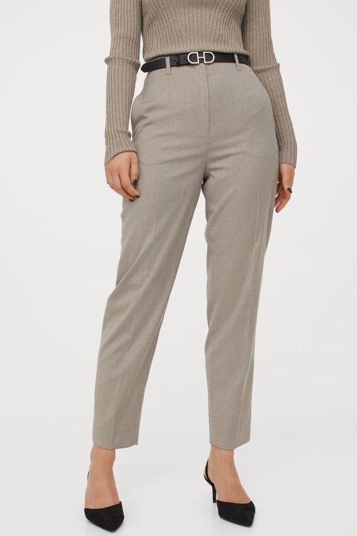 Cliomakeup-pantaloni-a-vita-alta-primavera-2021-hm-Pantaloni-a-sigaretta-grigio-chiaro