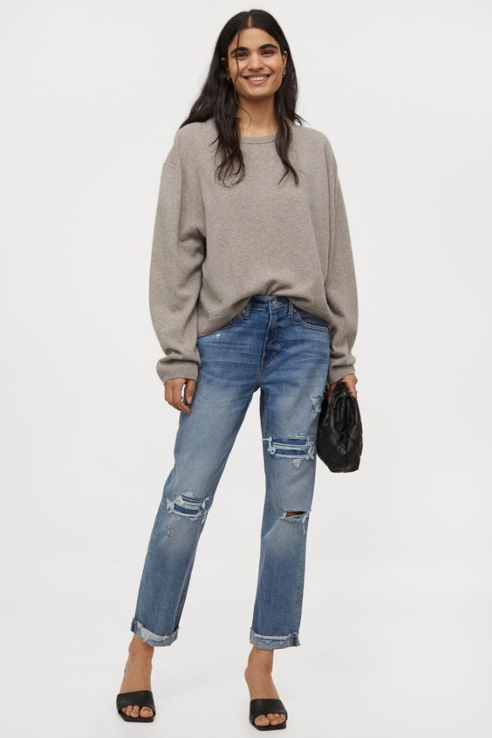 Cliomakeup-jeans-primavera-2021-hm Girlfriend-Regular-Jeans