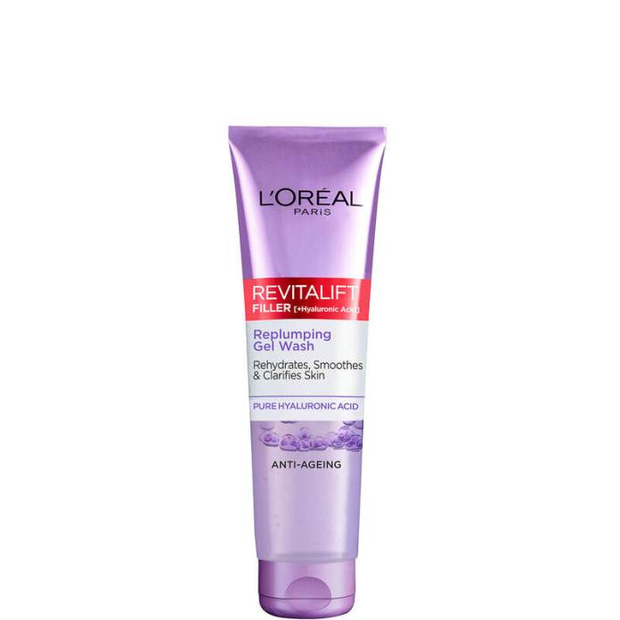 cliomakeup-skincare-routine-prodotti-economici-l-oreal-reviltalift-filler-face-wash