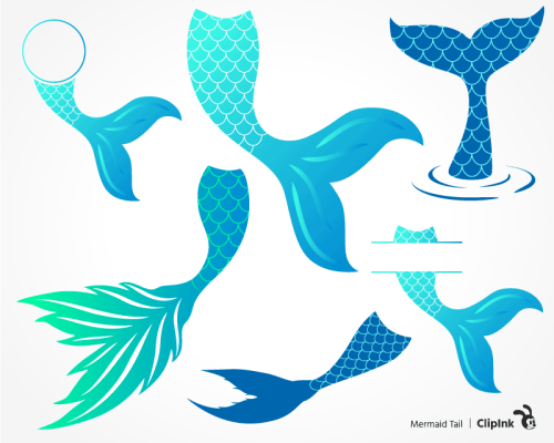 mermaid tail svg