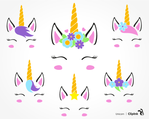 unicorn face svg