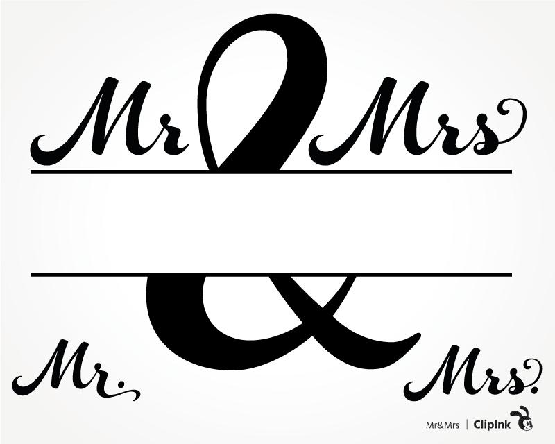 Mr And Mrs Monogram Mr Mrs Invitation Svg Png Eps Dxf Pdf Clipink