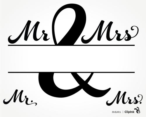 mr and mrs monogram
