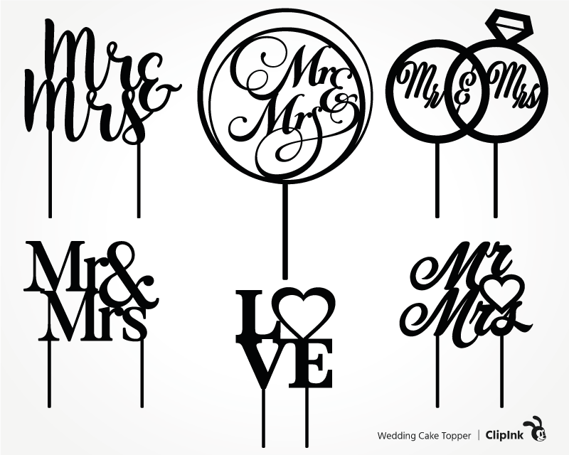 Download Wedding Cake Topper Cdr Cake Topper On Stick Svg Laser Cut Plan Married Couple Dxf Vector Cut File Mr Mrs Topper Svg Glowforge Visual Arts Craft Supplies Tools Vadel Com