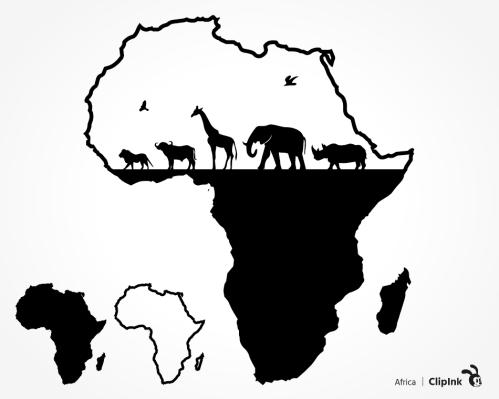 African animals svg