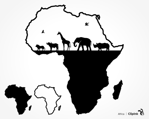 African animals svg