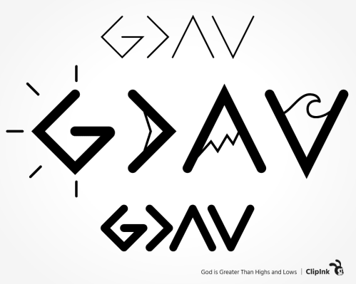 god is greater svg