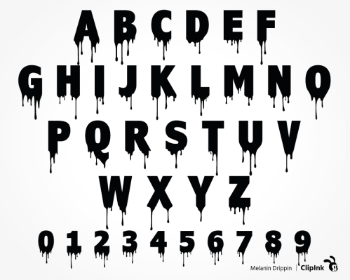 dripping font