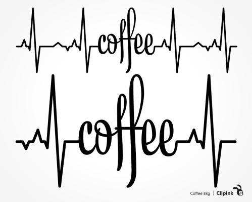 coffee ekg svg