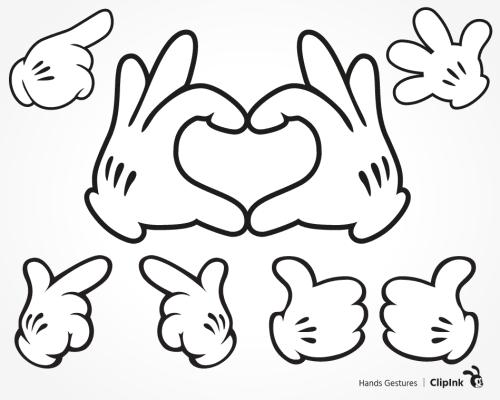 Mickey hands heart