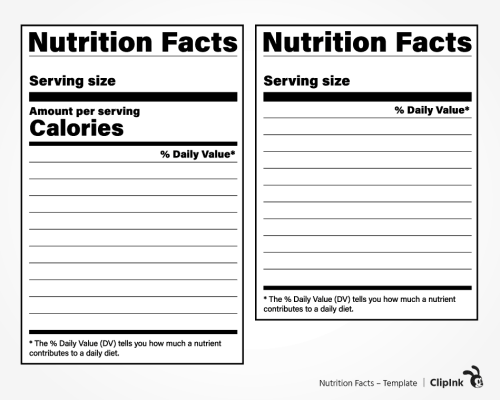 nutrition facts svg