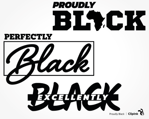 proudly black svg
