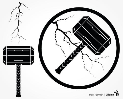 thor hammer svg