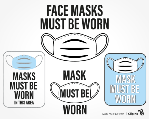 mask must be worn svg