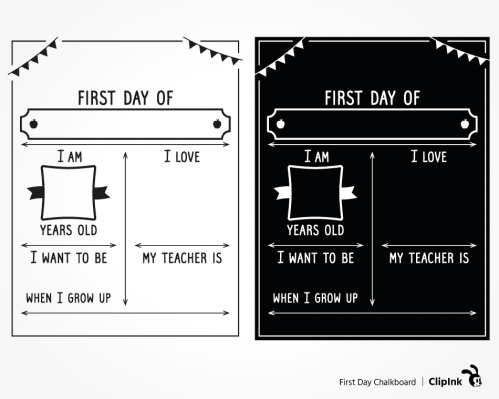 first day template