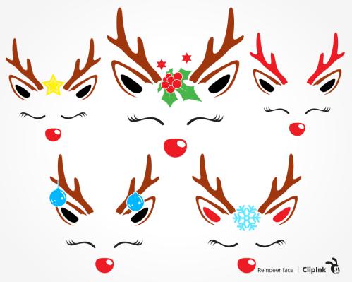 reindeer face svg