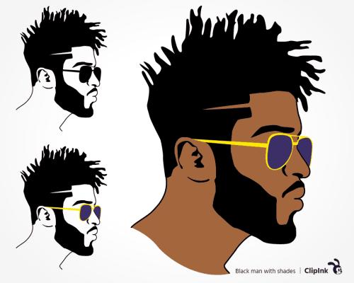 black man shades svg