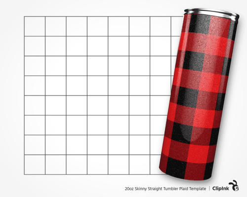 tumbler template plaid 20oz