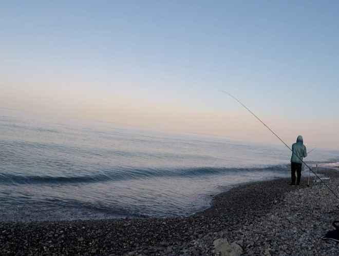 distendere il terminale feeder in mare
