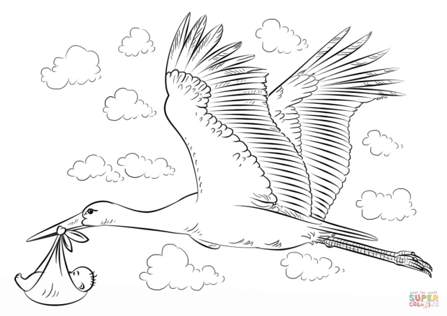 Free Storks Coloring Pages, Download Free Storks Coloring Pages