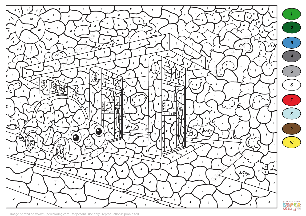 Free Advanced Color By Number Coloring Pages Download
