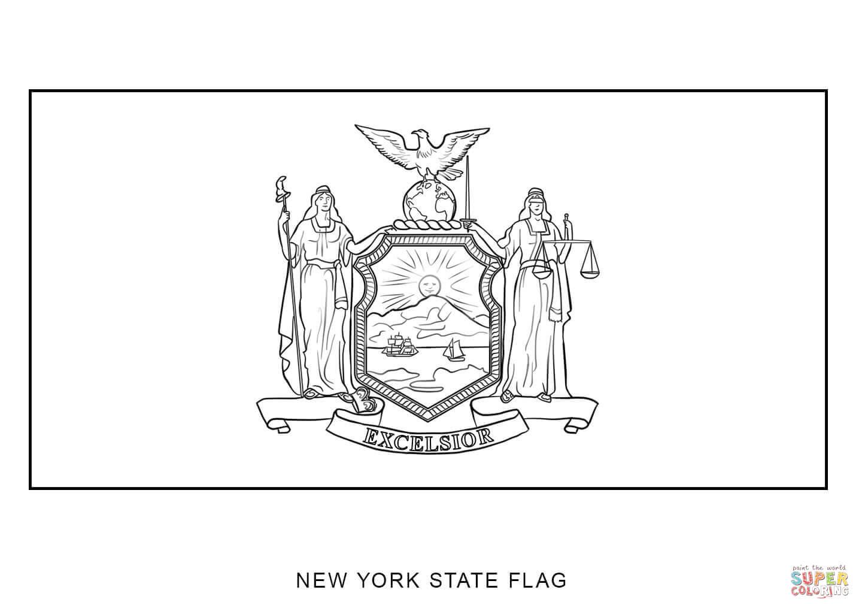 New York State Flag Outline
