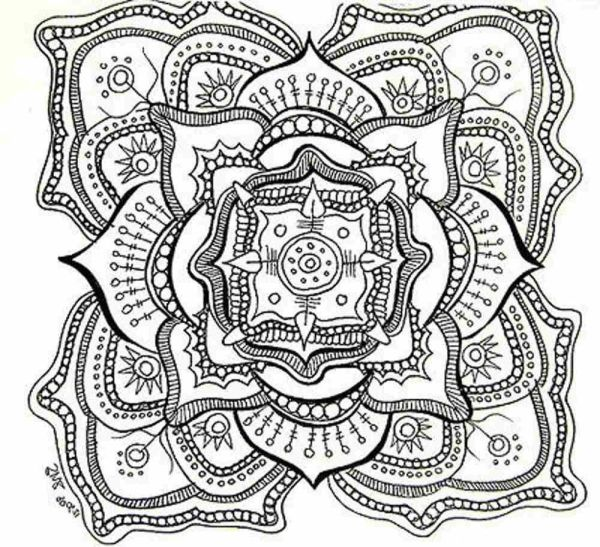 difficult coloring pages for adults # 16