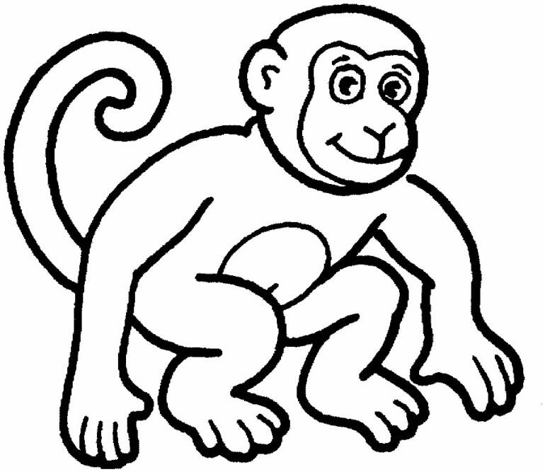 Free Monkey Coloring Book Page Download Free Clip Art Free Clip Art On Clipart Library