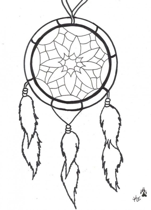 Dream Catcher Coloring Pages For Kids Clip Art Library