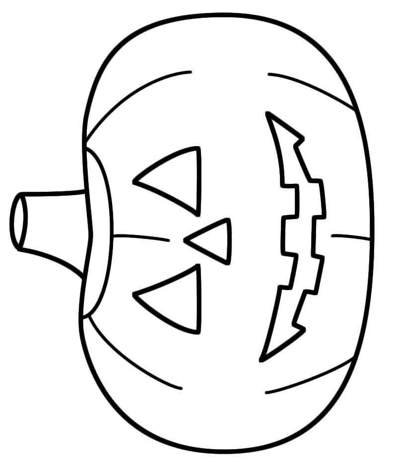 Jack O Lantern Easy Drawing Clip Art Library