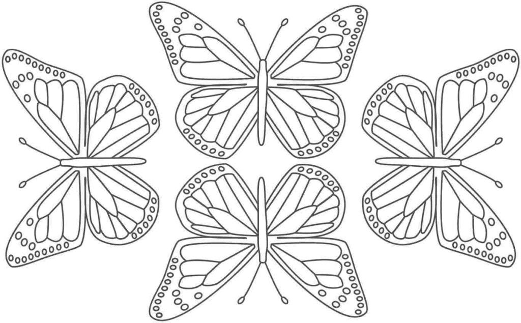 Easy Cute Butterfly Coloring Pages Clip Art Library
