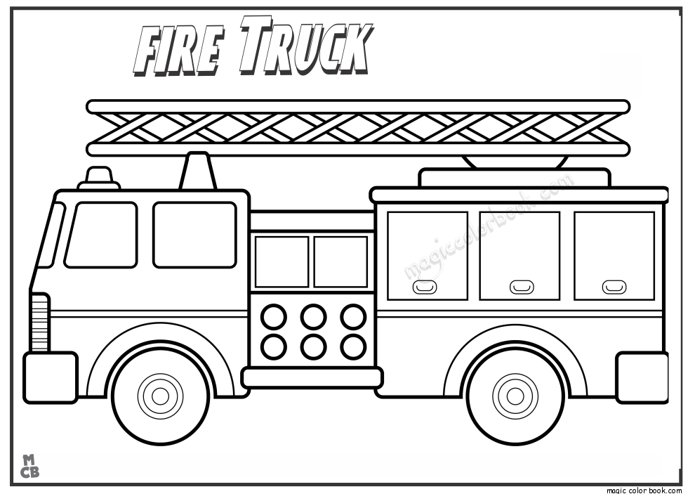 Fire Truck Coloring Page Clip Art Library