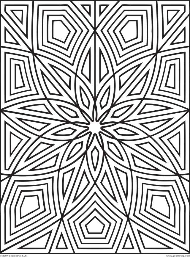 Free Free Printable Geometric Design Coloring Pages, Download Free