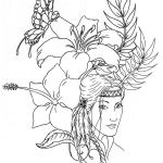 Coloring Pages Of Native American Girls Clip Art Library