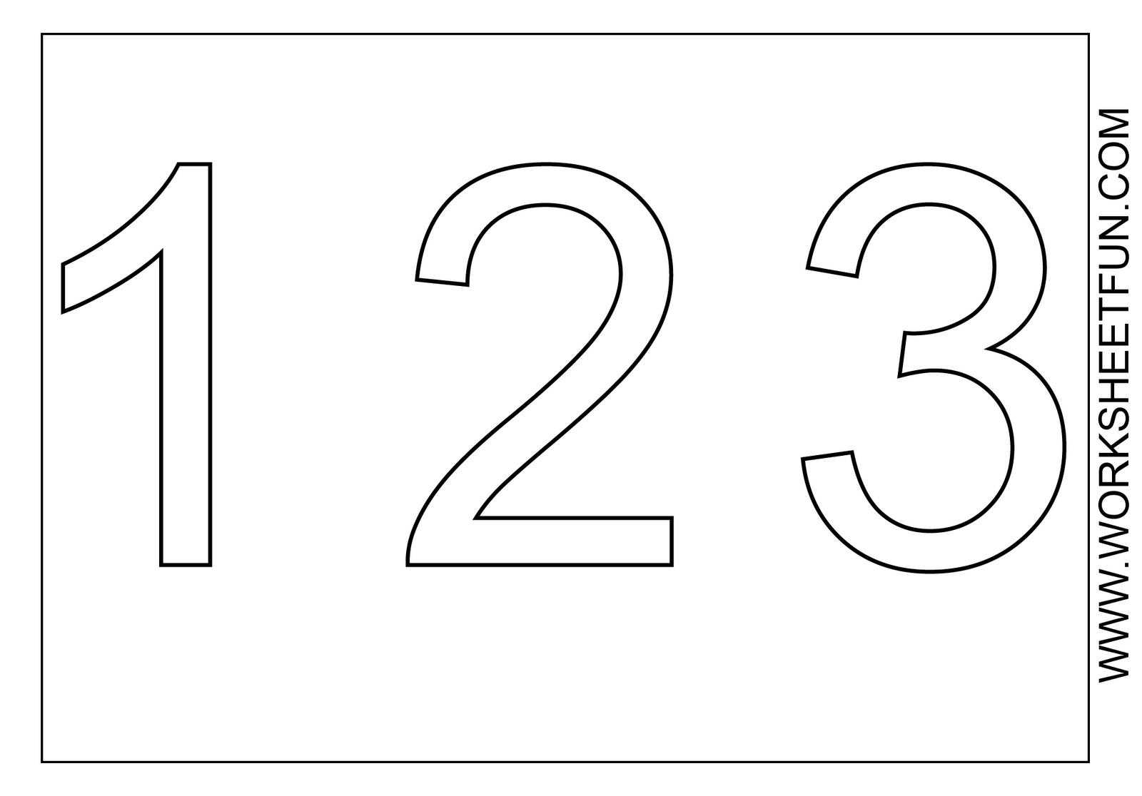 Free Number 3 Coloring Page Download Free Clip Art Free