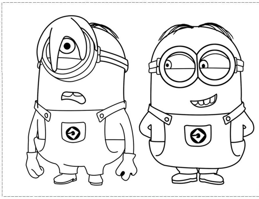 Free Printable Minions Coloring Pages Download Free Clip Art Free Clip Art On Clipart Library