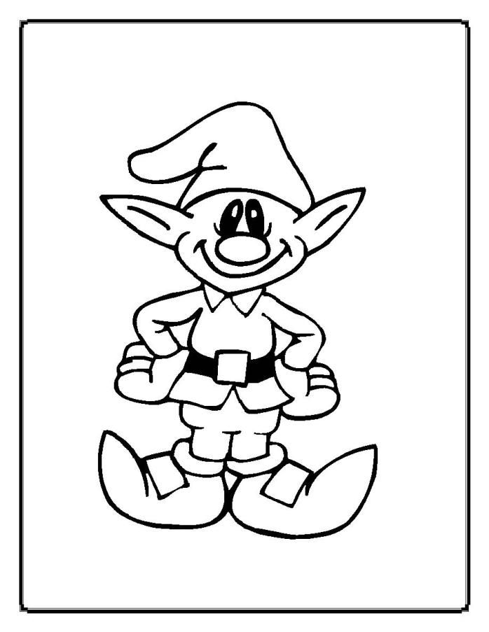 Free Christmas Elf Coloring Page Download Free Clip Art Free Clip Art On Clipart Library