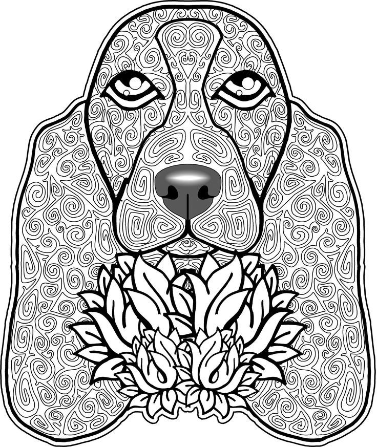 Free Dogs Coloring Pages Difficult Adult Download Free Clip Art Free Clip Art On Clipart Library
