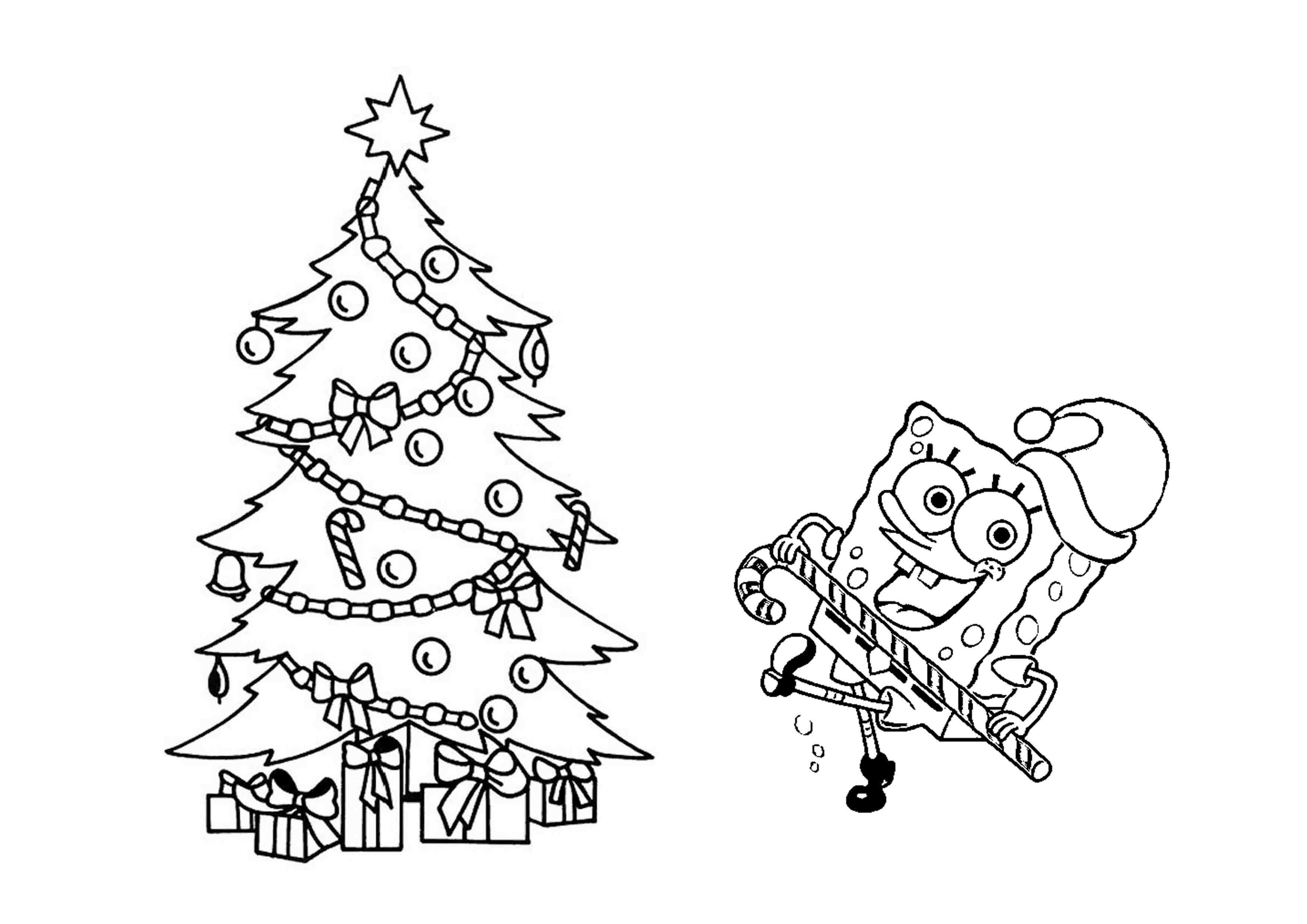 Free Spongebob Christmas Coloring Pages Free Printable