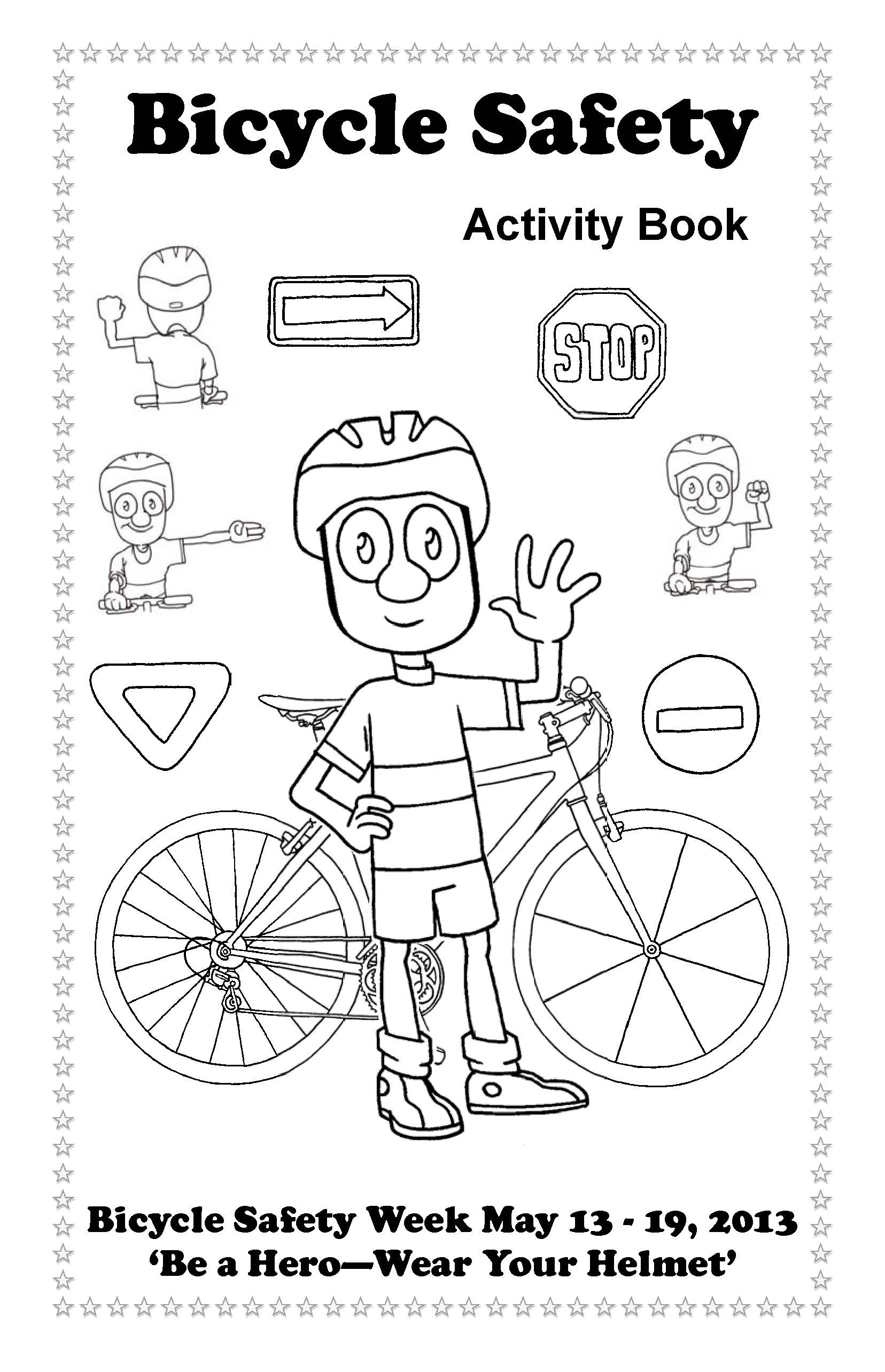 Bike And Safety Drawing