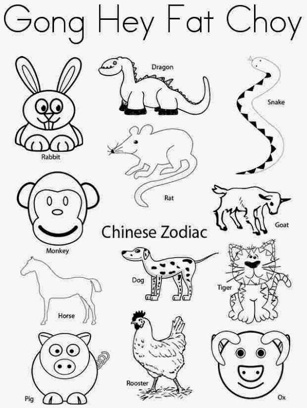 Free Chinese New Year Animals Coloring Pages Download Free Clip Art Free Clip Art On Clipart Library