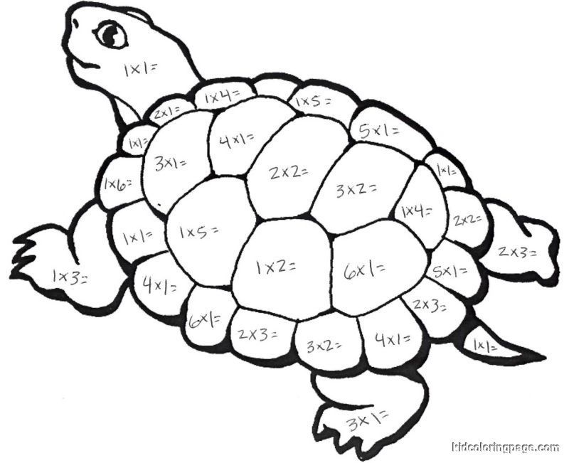 Free Turtle Math Coloring Pages Download Free Clip Art Free Clip Art On Clipart Library