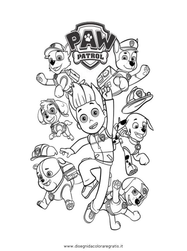 Paw Patrol Christmas Colouring Clip Art Library