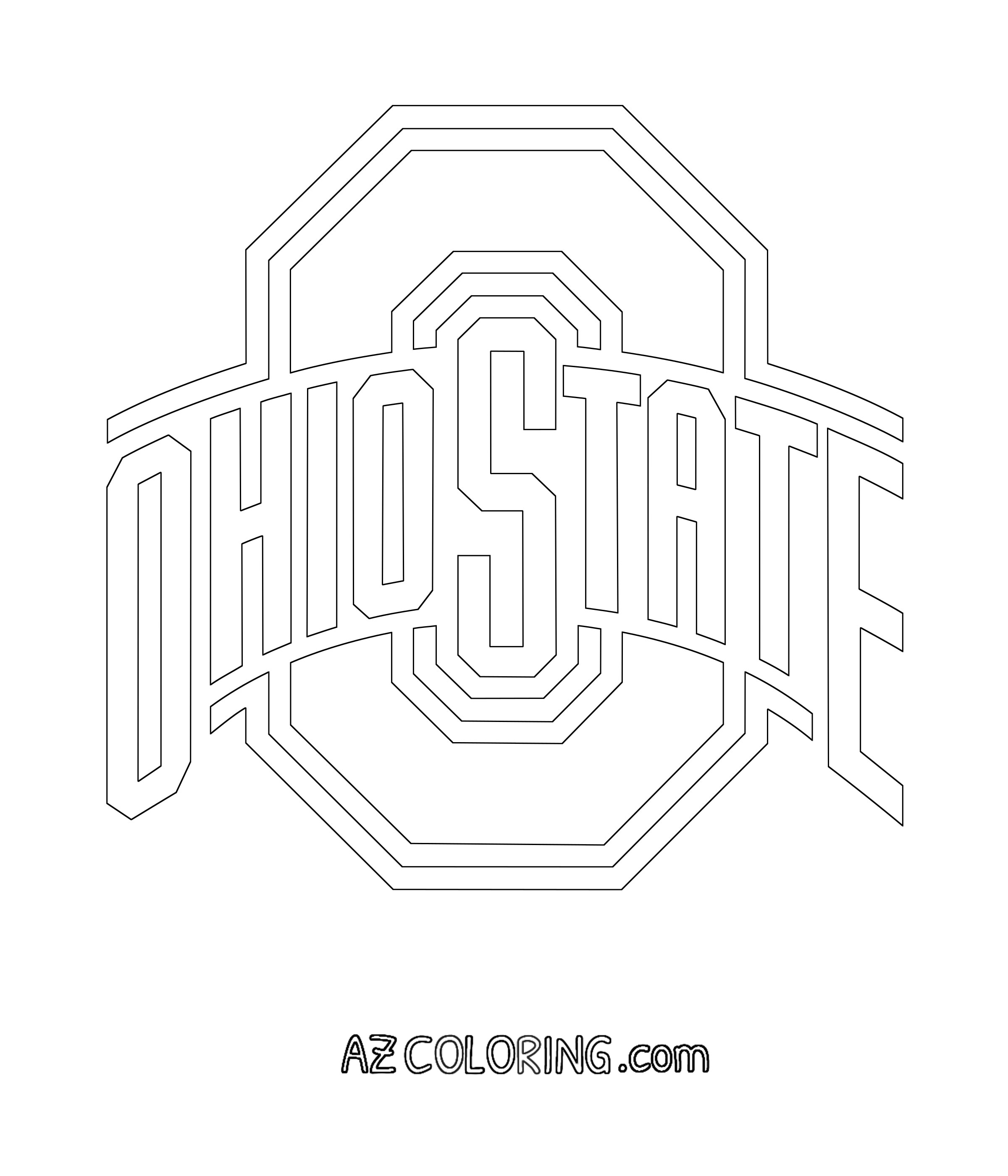 Free Ohio State Buckeyes Coloring Pages Download Free