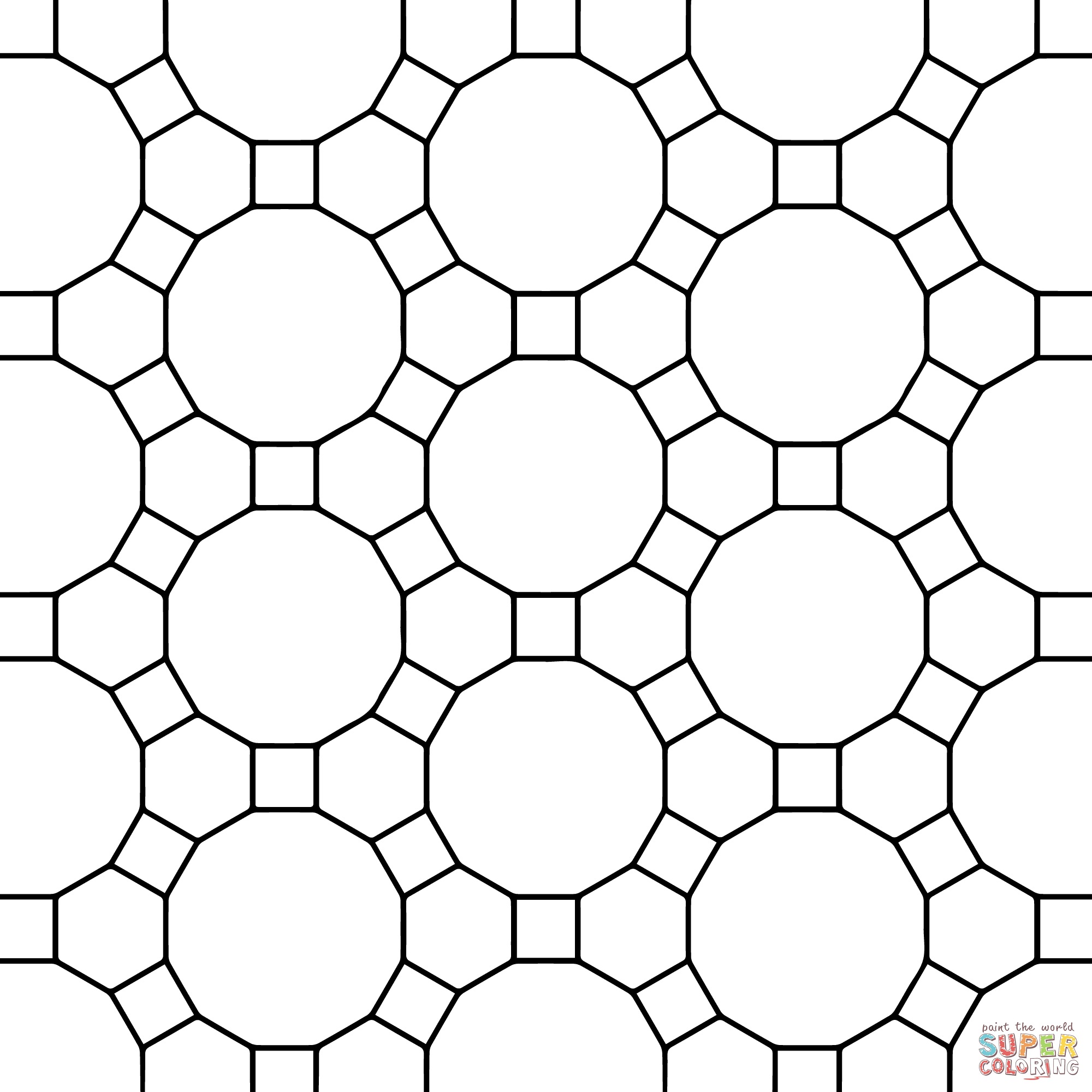 Tessellation Coloring Sheets