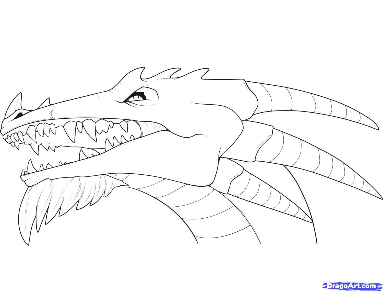 Realistic Dragon Head Coloring Pages Clip Art Library